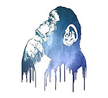 Galaxy Monkey Photographic Print