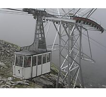 WERE EAGLES FLY,WE ARRIVED TOO - This is our cable car -ITALY - EUROPA- VETRINA RB EXPLORE 25 SETTEMBRE 2013 -                         A Photographic Print