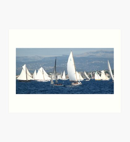 FROM THE SEA TO THE LAND, FROM THE LAND TO THE SEA.CANNES-FRANCIA -EUROPA- All rb Group of Boats and Sailing lovers -  VETRINA RB EXPLORE 16 OTT.2012 Art Print