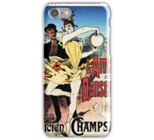 The ballerina lover 1888 Paris book cover ad by Chéret iPhone Case/Skin