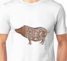 Chinese Zodiac Gingerbread Pig Unisex T-Shirt