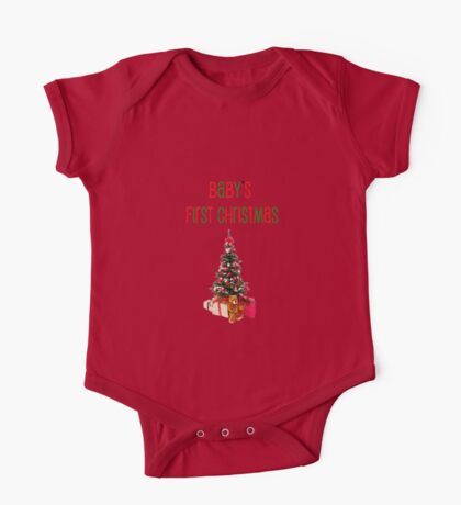Baby's First Christmas-t-shirt and gift ideas One Piece - Short Sleeve