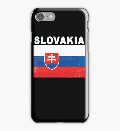 Slovakia Distressed Flag Sports Design iPhone Case/Skin