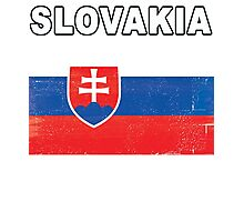 Slovakia Distressed Flag Sports Design Photographic Print