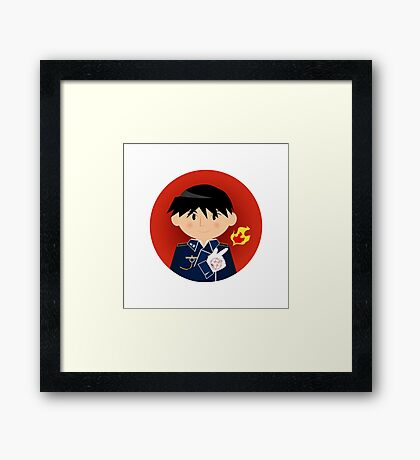 Roy Mustang - The Flame Alchemist Framed Print