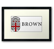Brown University logo Framed Print