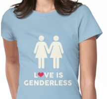 Love Is Genderless - Two Women Womens Fitted T-Shirt