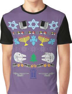 An Ugly 8 Bit Hanukkah Graphic T-Shirt