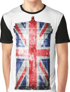 Tardis Union Jack Graphic T-Shirt