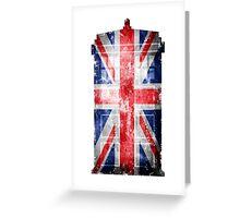Tardis Union Jack Greeting Card