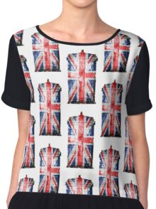 Tardis Union Jack Chiffon Top