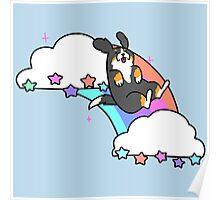 Rainbow Cloud Bernie Poster