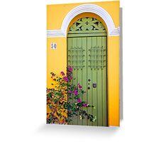 San Juan doorway Greeting Card