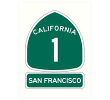 PCH - CA Highway 1 - San Francisco Art Print