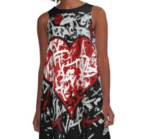 Valentines day graffiti hart A-Line Dress