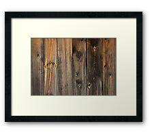 True wood Framed Print