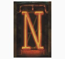 Steampunk - Alphabet - N is for Nixie Tube One Piece - Short Sleeve