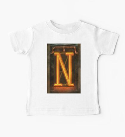 Steampunk - Alphabet - N is for Nixie Tube Baby Tee