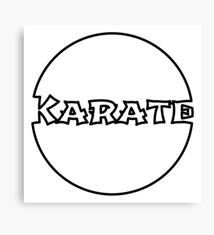 Karate Bubble Canvas Print