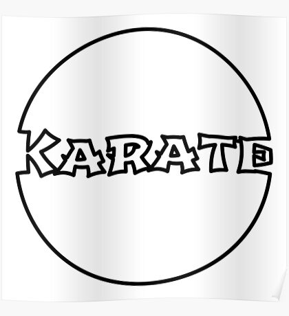 Karate Bubble Poster