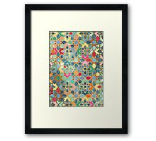 Gilt & Glory - Colorful Moroccan Mosaic Framed Print