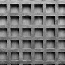 Abstract wooden grid pattern by Edward Fielding