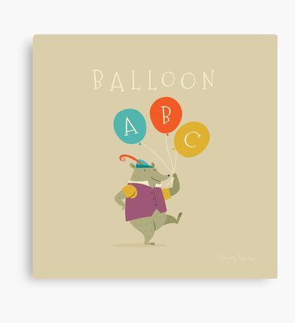 Balloon ABC Canvas Print
