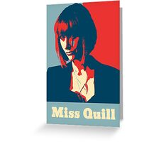 Miss Quill Scar Greeting Card