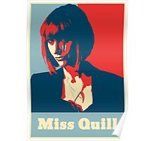 Miss Quill Scar Poster