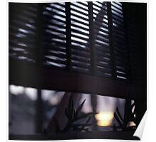 Beach house window at dawn Ibiza Spain square Hasselblad medium format film analog photographer Poster
