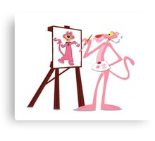 Pink Panther Paints Snagglepuss  Canvas Print