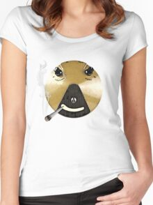 Smoking Fuzz Face Women's Fitted Scoop T-Shirt