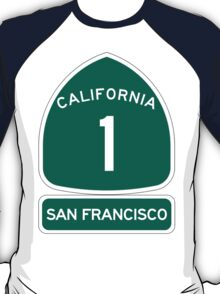 PCH - CA Highway 1 - San Francisco T-Shirt