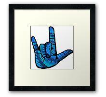 I Love You Hand Sign Framed Print
