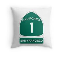PCH - CA Highway 1 - San Francisco Throw Pillow