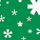 Typographic Star/Snow - Christmas Cards by khuship