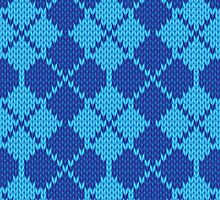 Stockinette Fair Isle Pattern - Blue by ImpyImp