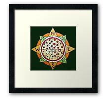 Pizza Compass Framed Print