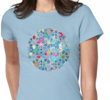 Pretty Pastel Moroccan Tile Mosaic Pattern Womens Fitted T-Shirt