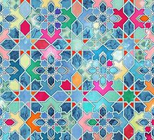 Pretty Pastel Moroccan Tile Mosaic Pattern by micklyn