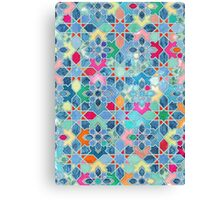 Pretty Pastel Moroccan Tile Mosaic Pattern Canvas Print