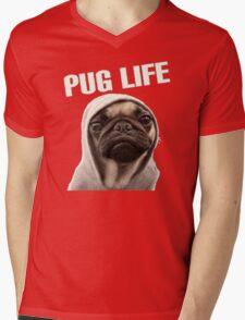 Pug Life Funny Mens V-Neck T-Shirt