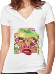 Umph Women's Fitted V-Neck T-Shirt