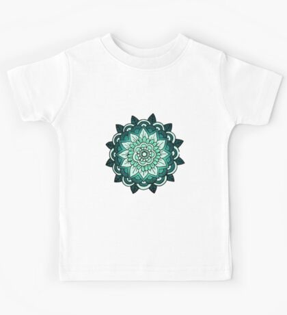 Mandala: Teal/Blue  Kids Tee