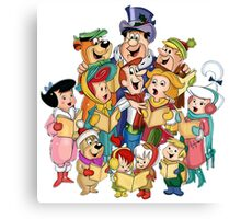 The Flintstones & The Jetsons Christmas  Canvas Print