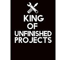 The king of unfinished projects Photographic Print
