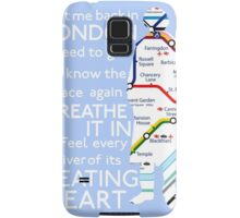 London Underground Map Sherlock Samsung Galaxy Case/Skin