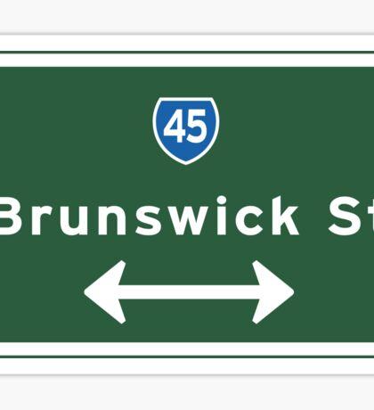 Brunswick St., Road Sign, Melbourne, Australia Sticker
