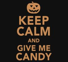 Limited Edition 'Keep Calm and Give Me Candy' Halloween T-Shirt by Albany Retro