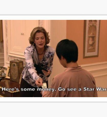go see a star war - arrested development Sticker